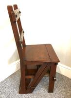 Antique Victorian Mahogany Metamorphic Library Step Chair (12 of 15)