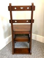 Antique Victorian Mahogany Metamorphic Library Step Chair (11 of 15)
