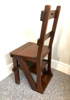 Antique Victorian Mahogany Metamorphic Library Step Chair (10 of 15)