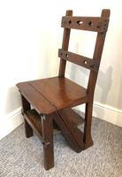 Antique Victorian Mahogany Metamorphic Library Step Chair (9 of 15)