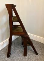 Antique Victorian Mahogany Metamorphic Library Step Chair (6 of 15)