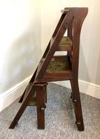 Antique Victorian Mahogany Metamorphic Library Step Chair (4 of 15)