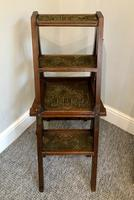 Antique Victorian Mahogany Metamorphic Library Step Chair (2 of 15)