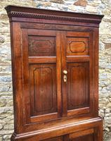 Large Georgian Oak Floorstanding Corner Cupboard (5 of 25)