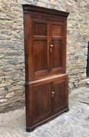 Large Georgian Oak Floorstanding Corner Cupboard (2 of 25)