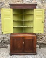 Large Georgian Oak Floorstanding Corner Cupboard (9 of 25)