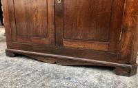 Large Georgian Oak Floorstanding Corner Cupboard (16 of 25)