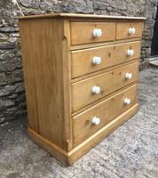 Victorian Pine Chest of Drawers (5 of 15)
