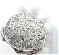 Italian Silver Loose Powder Compact (7 of 7)
