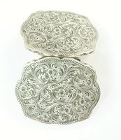 Engraved Silver Compact Mirror (3 of 6)