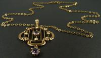 Antique Hallmarked Gold Pendant & Necklace (2 of 8)