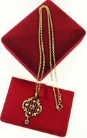 Antique Hallmarked Gold Pendant & Necklace (4 of 8)