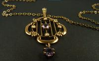 Antique Hallmarked Gold Pendant & Necklace (8 of 8)
