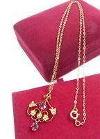 Antique Hallmarked Gold Pearl & Garnet Pendant Necklace (4 of 8)
