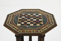 19th Century French Octagonal Oak Specimen Marble Top Table