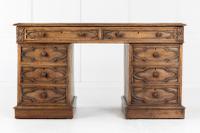 19th Century English Gothic Oak Desk (3 of 9)