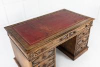 19th Century English Gothic Oak Desk (4 of 9)
