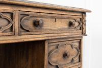 19th Century English Gothic Oak Desk (6 of 9)