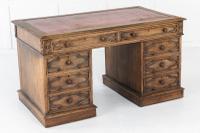 19th Century English Gothic Oak Desk