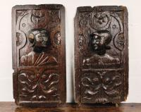 Fine Pair of 16th Century Romayne Panels