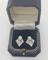 9ct Opal & Diamond Earrings (5 of 5)