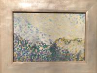 Trees and Sky. Original Framed Oil on Board by Ken Walch 1968