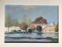 Original Oil Painting on Board of Ansty (Dorset?) by Peter Gardner R.O.I. B.1921. Signed & Dated 70. Framed