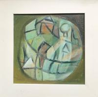 Original Oil Painting on Board 'Figure in a Circular Form' by Doreen Heaton Potworowski, Framed (2 of 2)