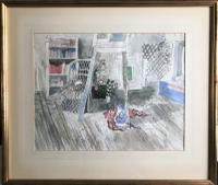 Original Watercolour 'A Corner of My Studio' by John O'Connor R.W.S. Signed. Framed (2 of 4)