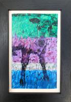 Original Oil on Board 'A Poddy Calf in Australia' by Ken Walch 1927-2018 c.1965 Framed in a Black Painted Oak Frame