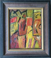 Original Oil Painting on Board 'Two Figures'' by Doreen Heaton Potworowski 1930-2014. Initialled & Framed c.1970