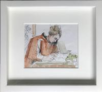 Original 'Letters Home from Tuscany' by Toby Horne Shepherd Signed c.1965 Framed in a Hand Finished Off White Moulding. (2 of 2)