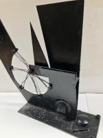 Original Iron Sculpture 'Industry' by Hector Macdonald Sutton 1903-1995. Painted Black. 1951 (2 of 7)