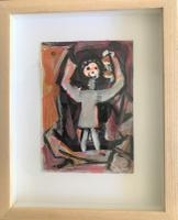 Original Oil on Paper 'All the World's a Stage' by Doreen Heaton Potworowski 1930-2014. Initialled & Framed c.1970 (2 of 2)