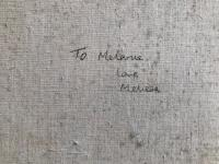Original Oil on Canvas of Trees and a Lake. Unsigned. Inscribed 'to Melanie, Love Melissa' (3 of 3)