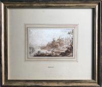 Original Sepia & Pencil Watercolour 'Durham' by Sir Augustus Wall Callcott Unsigned. Framed (5 of 5)