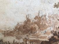Original Sepia & Pencil Watercolour 'Durham' by Sir Augustus Wall Callcott Unsigned. Framed (4 of 5)