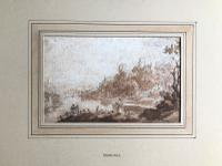 Original Sepia & Pencil Watercolour 'Durham' by Sir Augustus Wall Callcott Unsigned. Framed (2 of 5)