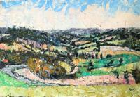 Original Oil on Board' Panorama Near Chichester' by Ken Walch. 1927-2018. Signed and Dated 78 on the Reverse. Initialled KW Bottom Right (2 of 4)