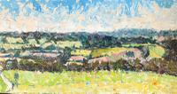 Original Oil on Board' Panorama Near Chichester' by Ken Walch. 1927-2018. Signed and Dated 78 on the Reverse. Initialled KW Bottom Right (4 of 4)
