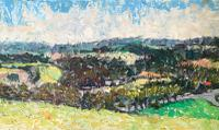 Original Oil on Board' Panorama Near Chichester' by Ken Walch. 1927-2018. Signed and Dated 78 on the Reverse. Initialled KW Bottom Right (3 of 4)