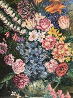 Original Oil On Board 'Summer Flowers'. Initialled and Dated  '56'[ (3 of 3)