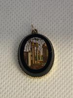 Victorian 18ct Micromosaic Pendant.
