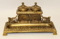 Early 19th Century Bronze Grecian Pen & Ink Stand