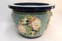 Fine French Pottery Jardiniere with Original Stand (7 of 16)