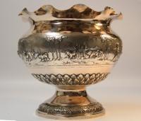 Large 19th Century Indian White Metal Bowl