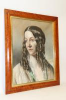 Mid 19th Century Portrait of a Young Woman by Robert Faulkner 1851