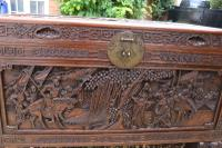 Superb Chinese Carved Hardwood Chest / Blanket Box (11 of 31)