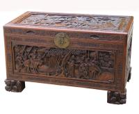 Superb Chinese Carved Hardwood Chest / Blanket Box (25 of 31)