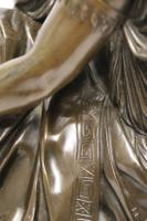 Superb Mid 19th Century French Classical Bronze of Euterpe by Pierre Alexander Schoenewerk (21 of 25)